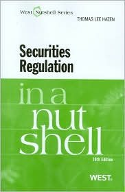 Securities Regulation in a Nutshell 10th (tenth) edition Text Only pdf epub