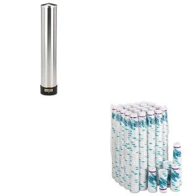 KITSJMC3400PSLOX20NJ - Value Kit - Solo Trophy Plus Dual Temp Cups (SLOX20NJ) and San Jamar Large Water Cup Dispenser w/Removable Cap (SJMC3400P) by Solo