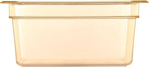 Carlisle 10422B13 High Heat One-Half Size Food Pan, 8.7-quart Capacity, 6'' x 10.38'' x 12.75'', Amber (Case of 6) by Carlisle (Image #1)