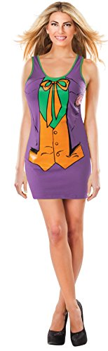 Rubie's DC Comics Justice League Superhero Style Adult Dress with Cape The Joker, Purple, Large (Woman Joker Costume)