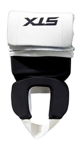 STX Field Hockey Reversible Shin Shield, Black/White, Adult