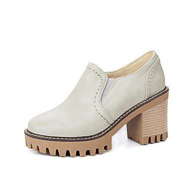 Zapatos amarillos de invierno oficinas para mujer DU81l
