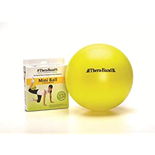 TheraBand - 23095 Mini Ball, Small Exercise Ball for Yoga, Pilates, Abdominal Workouts, Shoulder Therapy, Core Strengthening, At-Home Gym & Physical Therapy Tool, New Version