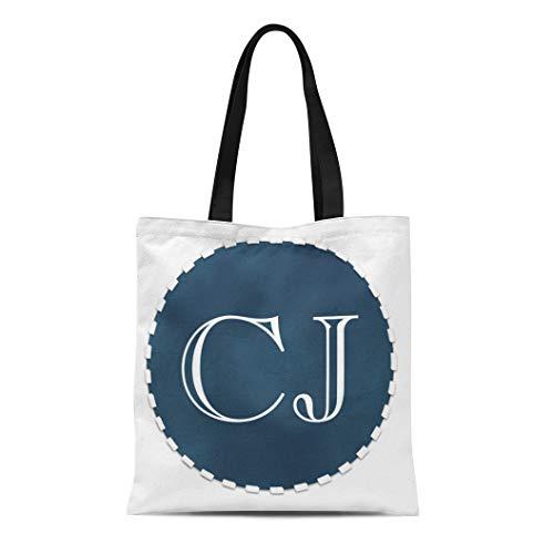 (Semtomn Cotton Line Canvas Tote Bag Baggi Pink Gi Blue Suede Custom Monogram Choose Own Reusable Handbag Shoulder Grocery Shopping Bags)