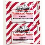 New New Fisherman's Friend Cherry Fravour Lozenges Sugar Free Candy 25g. (Lot 2 Packs)