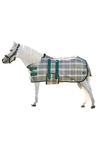 Kensington KPP Mini Horse Protective Fly Sheet, Deluxe Hunter Plaid (XX-Large)