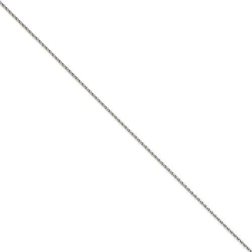Or blanc 14ct 1,5mm Chaîne roi ronde bracelet blé-17,78cm-JewelryWeb