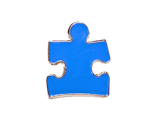 (Autism Awareness Ribbon Puzzle Piece Blue Lapel Hat Pins Raise Awareness PPM7301 (1)