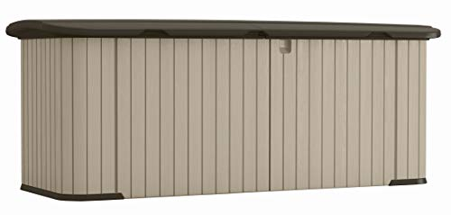 Suncast Multipurpose Resin Storage Shed - Outdoor Storage Shed - Store Outdoor Yard Accessories, Furniture, Toys, Wood - Taupe