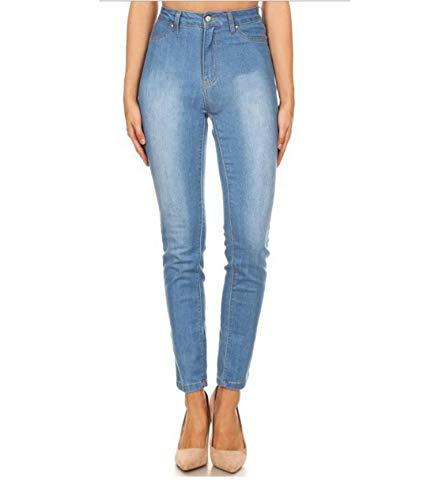 Size L Minimalisti Alta Vita color Hungrybubble 3 Pantaloni Moda Jeans A Blue Donna 1 P7xBnCSqFw