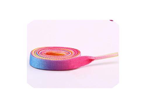 - Fashion 80/100/120cm Polyester RainPrinting Flat Shoelace One Pair,color 9,100cm