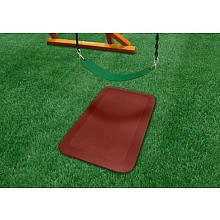 Gorilla Playsets Kids Play Area Ground Protection Mat Rubber Red - Pack of 2