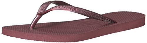 (Havaianas Women's Slim Flip Flop Sandal, Grape Wine, 6 M US)