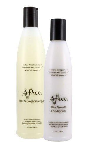 Sfree Hair Growth Shampoo (12oz) & Conditioner (8oz) by Healthy Hair Plus