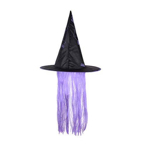 BESTOYARD Halloween Hat Witch Dress Up Cap Wig Hats Makeup Props for Cosplay Party Festival Masquerade -