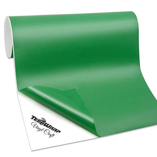 TECKWRAP Permanent Adhesive Vinyl for Craft, 1ftx6ft, Matte Kelly Green
