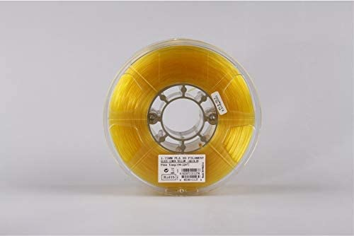 Glass Yellow PLA175GLY1 eSUN 1.75mm Glass Lemon Yellow PLA 3D Printer filament 1kg Spool 2.2lbs