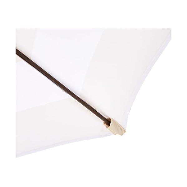 AmazonBasics - JC014 - Ombrellone da giardino, 2,74 m, a righe beige e bianche 6 spesavip