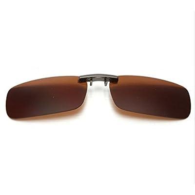 Clip avec verres polarisés pour lunettes Marron