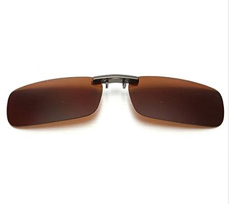 Clip con cristales polarizados para gafas color marron: Amazon.es: Deportes y aire libre