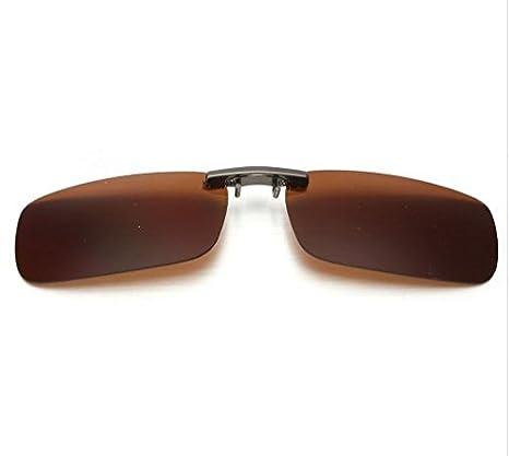 7351e36807 Gafas MarronAmazon Polarizados Cristales Clip Para Color es Con vNn0wm8