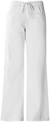 Baby Phat 26034 Women's The Pant Scrub Pant White X-Small