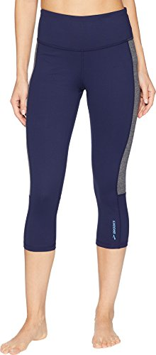 Brooks Women's Greenlight Capris Navy/Heather Asphalt Small 21 21
