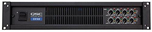 QSC CX168 Power Amplifier 130 Watts 8 channel at 4 Ohms 3-Pin Detachable-Blocks Variable-Speed-Fan