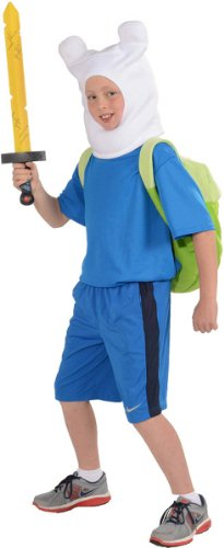 Rubies Adventure Time Child's Deluxe Finn Costume, (Adventures Costumes)