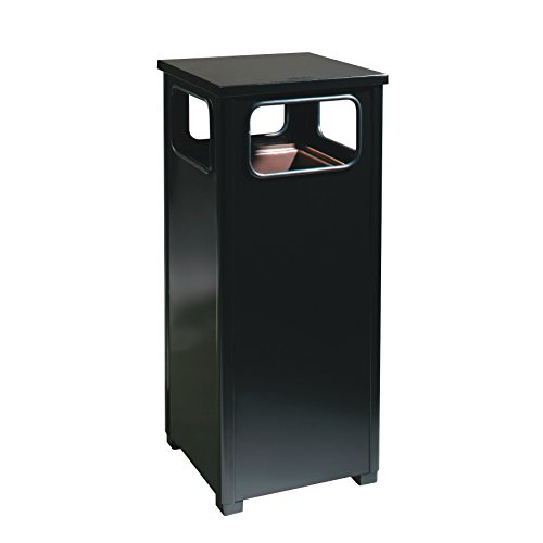 - Rubbermaid Commercial Products FGR12SBKPL Dimension Standard Series Refuse Container with Weather Urn (Flat Top, 12-Gallon, Black)