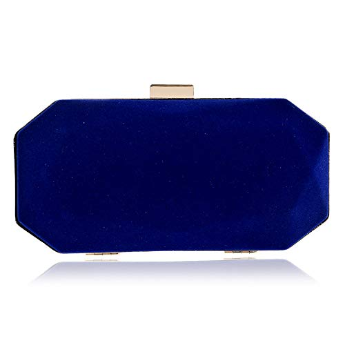 - JBAG-one Women's Elegant Velvet Evening Bags,Clutches Formal Wedding Clutch Purse, Prom Cocktail Party Handbags,Blue