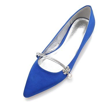 Party amp;Amp; Bowknot Heelivory 5 Shoes RTRY Evening Blue Women'S Ruby Dress Summer Wedding 10 UK7 Champagne Wedding CN42 5 8 US9 Comfort Satin Rhinestone Spring Flat EU41 8CzqCOw