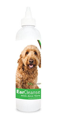 Healthy Breeds Dog Ear Care Rinse for Goldendoodle, Brown - OVER 200 BREEDS - Vet Recommended Formula - Easier Than Wipes & Pads - Cucumber Melon 8 oz from Healthy Breeds