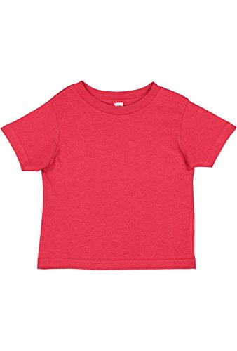- Rabbit Skins Infant 100% Cotton Jersey Short Sleeve Tee (Red, 24 Months)