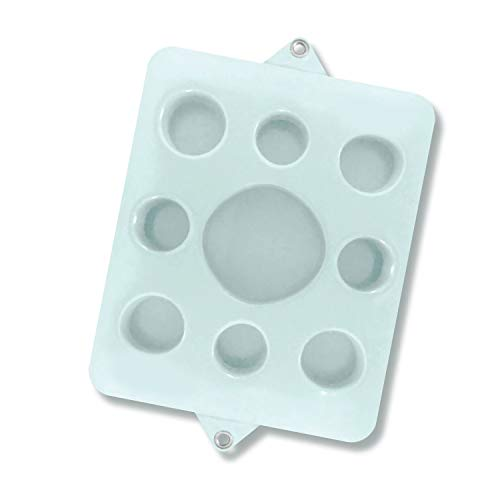 (VOS Family Size Floating Refreshments Holding Tray for Snacks and Drinks | Ultra Buoyant Water Floats for Pools Sandbars Parties, 9-Holes, Bright White)