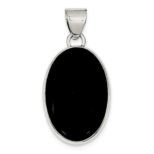 ICE CARATS 925 Sterling Silver Black Onyx Oval Pendant Charm Necklace Natural Stone Fine Jewelry Ideal Gifts For Women Gift Set From Heart
