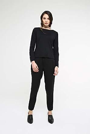 TruEagle Tencel Fashion Joggers for Women, Black