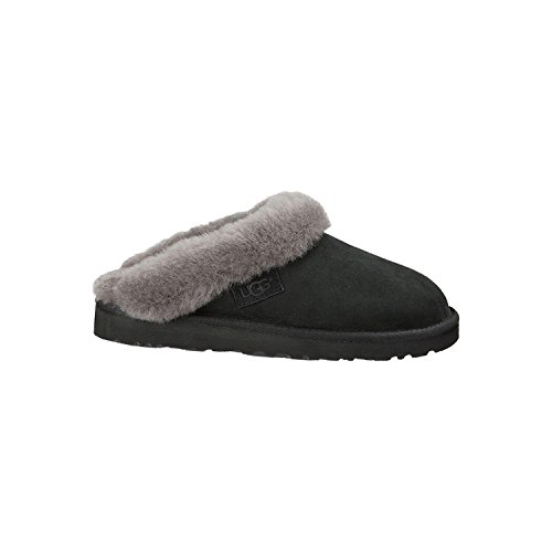 UGG Women's Cluggette Black Twinface Slipper 5 B (M) (Cozy Ugg Footwear)