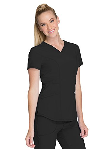 Cherokee Infinity CK623A V-Neck Top Black M (Cherokee Scrub Top Women)