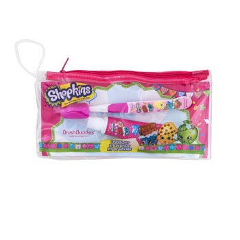 Travel KIT 4CT Shopkins Pouch, TOOTHBRSH, Cap, TOOTHPSTE, Case Pack of 24