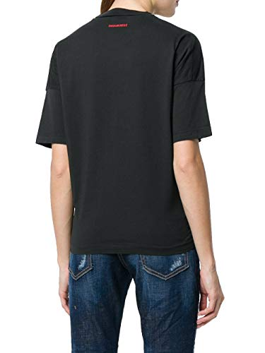 Cotone Donna shirt S75gc0957s22427900 Nero T Dsquared2 fnqvZ0Ix