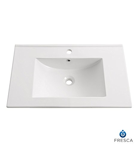 Fresca Allier 30'' White Integrated Sink with Countertop by Fresca