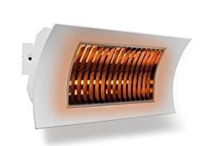 farho - Radiador Infrarrojos OASI Blanco, Calefactor de Exteriores, Estufa de Infrarrojos para terrazas