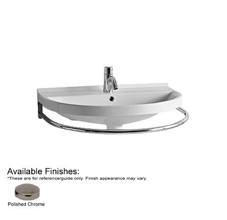 Whitehaus LUA4-POCH China Series 22-Inch Large U-Shaped Front Towel Bar, Polished Chrome by Whitehaus Collection