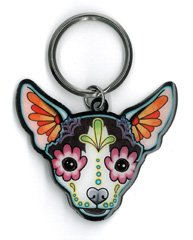 Cali's, Pretty In Ink Chihuahua, Officially Licensed Artwork - Metal Keychain ()