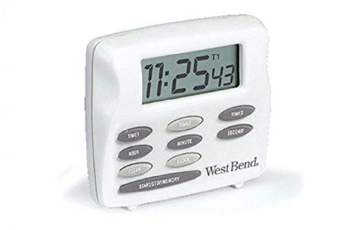 Focus Foodservice 40053 West Bend Digital Timer, Triple Timer with Clock, 2-1/2