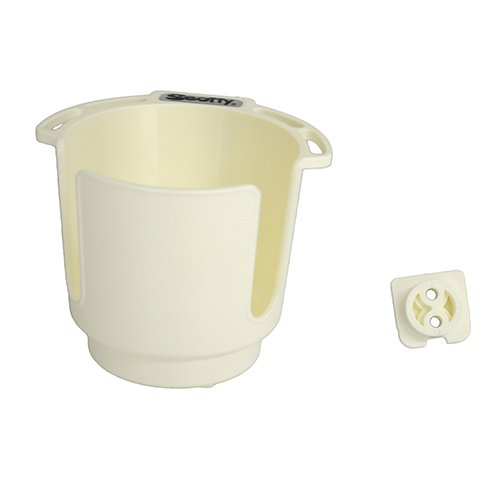 Sailboat Drink Holders - Scotty 310-WH Drink Holder with Bulkhead/Gunnel Mount (White)