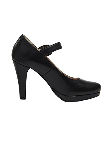 Stockerpoint Ladies 6010 Strappy Pumps Nero (nappa Nera)