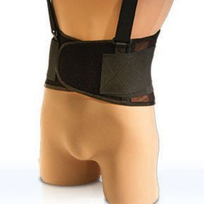 Back Support, Heavy Duty Breathable Spandex (Size: 5X-Large) (Lumbar Brace 5x)
