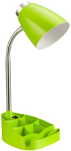 Limelights LD1002-GRN Gooseneck Organizer Desk Lamp with iPad Stand or Book Holder, Neon Green (Green Lamp Lime)